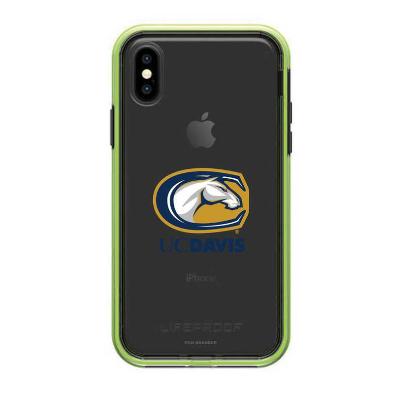 IPH-X-NF-SLA-UCD-D101: UC Davis Aggies LifeProof iPhone X/Xs SLAM