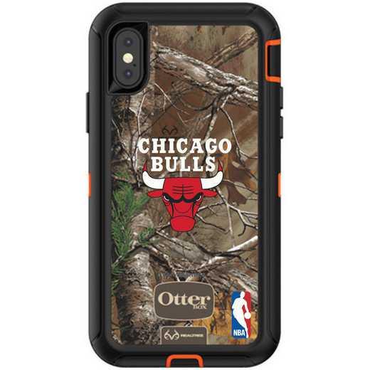 IPH-X-RT-DEF-CHBL-D101: BL Chicago Bulls OtterBox iPhone X/Xs Defender