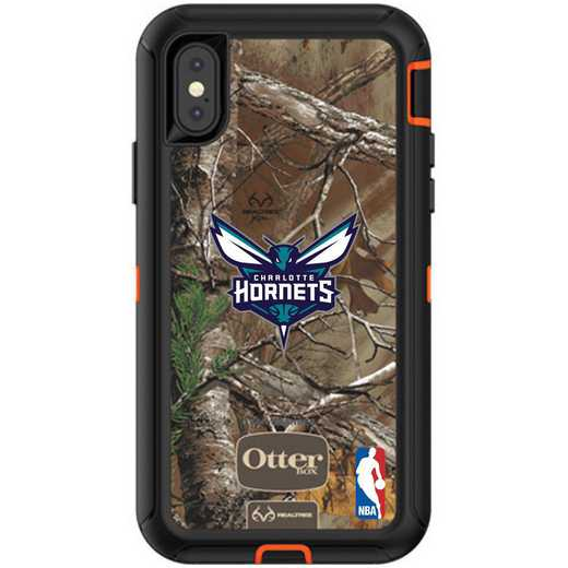 IPH-X-RT-DEF-CHH-D101: BL Charlotte Hornets OtterBox iPhone X/Xs Defender