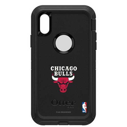 IPH-XR-BK-DEF-CHBL-D101: BL Chicago Bulls Otterbox iPhone XR Defender