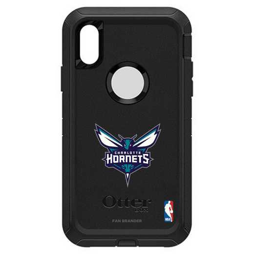 IPH-XR-BK-DEF-CHH-D101: BL Charlotte Hornets Otterbox iPhone XR Defender