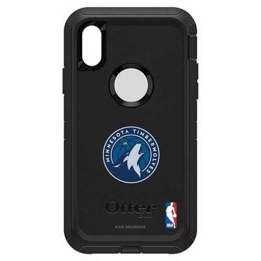 IPH-XR-BK-DEF-MNT-D101: BL Minnesota Timberwolves Otterbox iPhone XR Defender