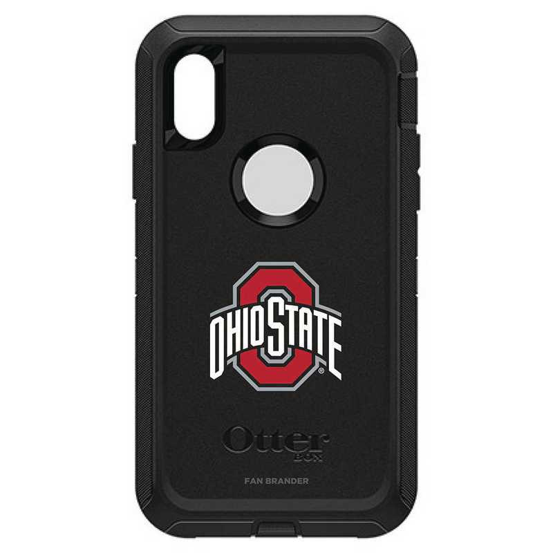 IPH-XR-BK-DEF-OHS-D101: FB OB IPHONE XR BLK Ohio State