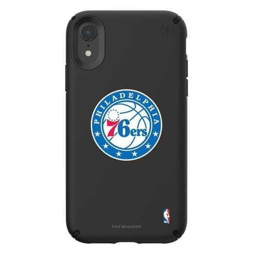 IPH-XR-BK-PRE-76S-D101: BL Speck Presido iPhone XR, Philadelphia 76ers