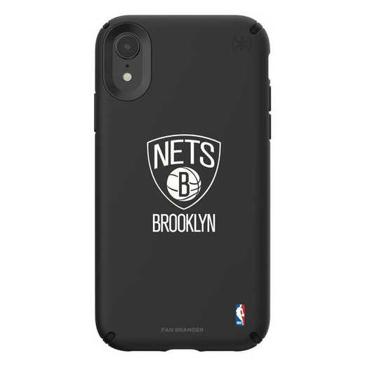 IPH-XR-BK-PRE-BRN-D101: BL Speck Presido iPhone XR, Brooklyn Nets
