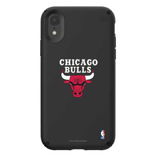 IPH-XR-BK-PRE-CHBL-D101: BL Speck Presido iPhone XR, Chicago Bulls