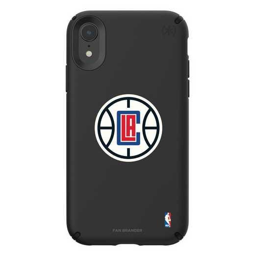 IPH-XR-BK-PRE-LAC-D101: BL Speck Presido iPhone XR, LA Clippers