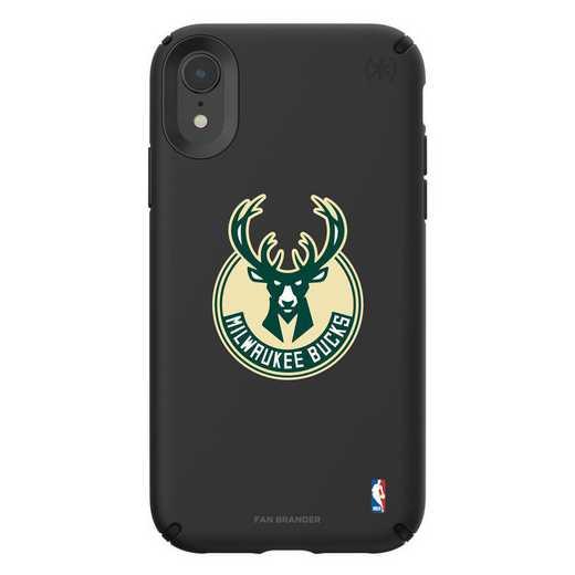 IPH-XR-BK-PRE-MIB-D101: BL Speck Presido iPhone XR, Milwaukee Bucks