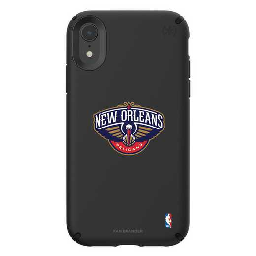 IPH-XR-BK-PRE-NOP-D101: BL Speck Presido iPhone XR, New Orleans Pelicans