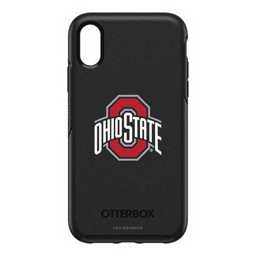 IPH-XR-BK-SYM-OHS-D101: FB OB IPHONE XR BLK Ohio State