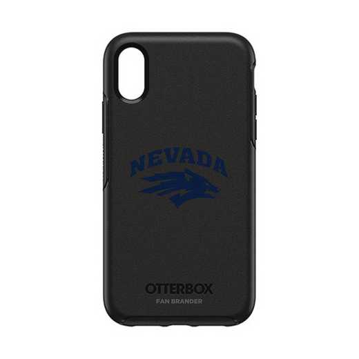 IPH-XR-BK-SYM-UNR-D101: FB OB IPHONE XR BLK Nevada Wolf Pack