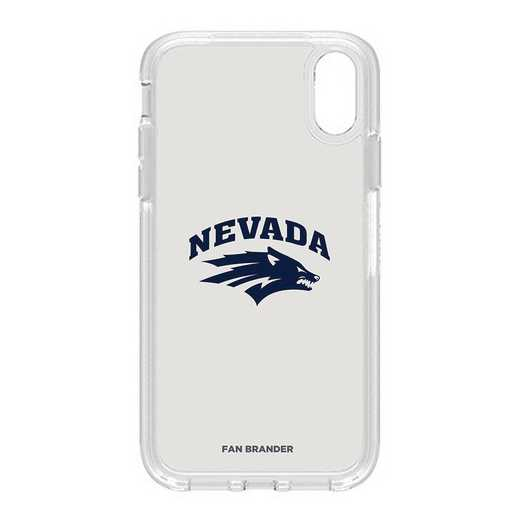 IPH-XR-CL-SYM-UNR-D101: FB OB IPHONE XR CLR Nevada Wolf Pack