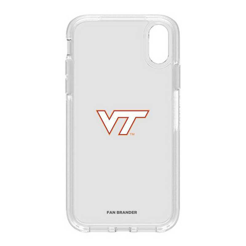 IPH-XR-CL-SYM-VAT-D101: FB OB IPHONE XR CLR Virginia Tech