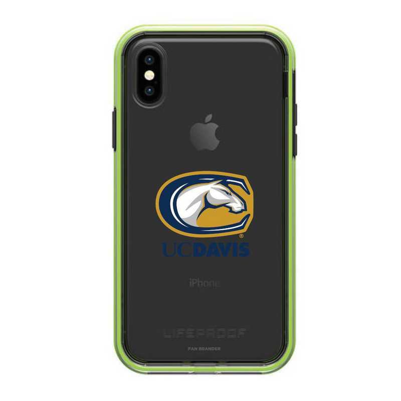 IPH-XR-NF-SLA-UCD-D101: UC Davis Aggies LifeProof iPhone XR SLAM