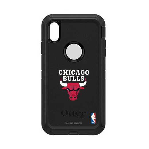 IPH-XSM-BK-DEF-CHBL-D101: BL Chicago Bulls Otterbox iPhone XS Max Defender
