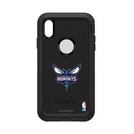 IPH-XSM-BK-DEF-CHH-D101: BL Charlotte Hornets Otterbox iPhone XS Max Defender
