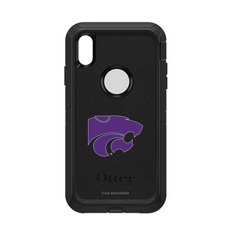 IPH-XSM-BK-DEF-KST-D101: FB OB iPhone XS Max BLK Kansas State
