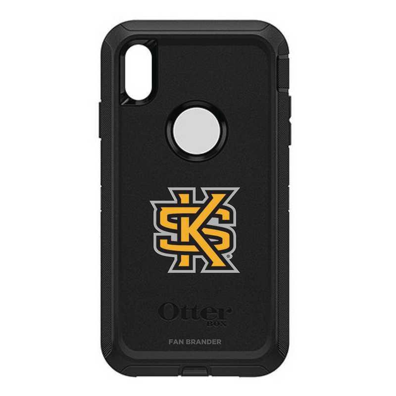 IPH-XSM-BK-DEF-KSUA-D101: FB OB iPhone XS Max BLK Kennesaw State