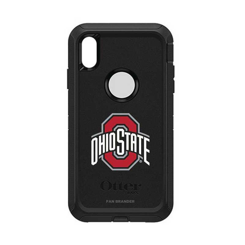 IPH-XSM-BK-DEF-OHS-D101: FB OB iPhone XS Max BLK Ohio State