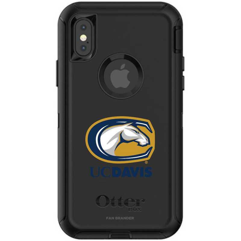 IPH-XSM-BK-DEF-UCD-D101: FB OB iPhone XS Max BLK California-Davis