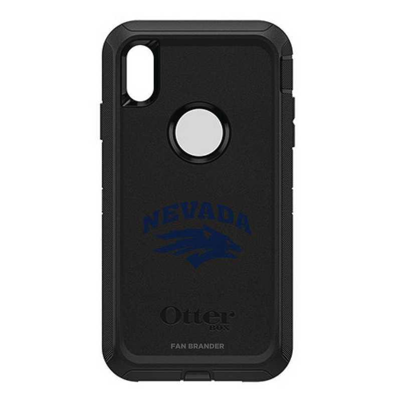 IPH-XSM-BK-DEF-UNR-D101: FB OB iPhone XS Max BLK Nevada Wolf Pack