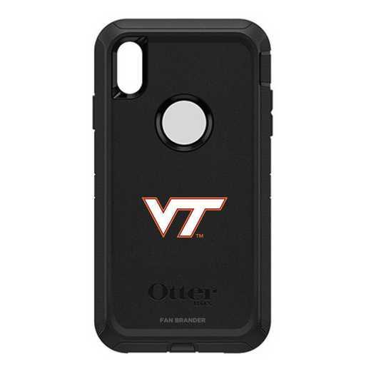 IPH-XSM-BK-DEF-VAT-D101: FB OB iPhone XS Max BLK Virginia Tech