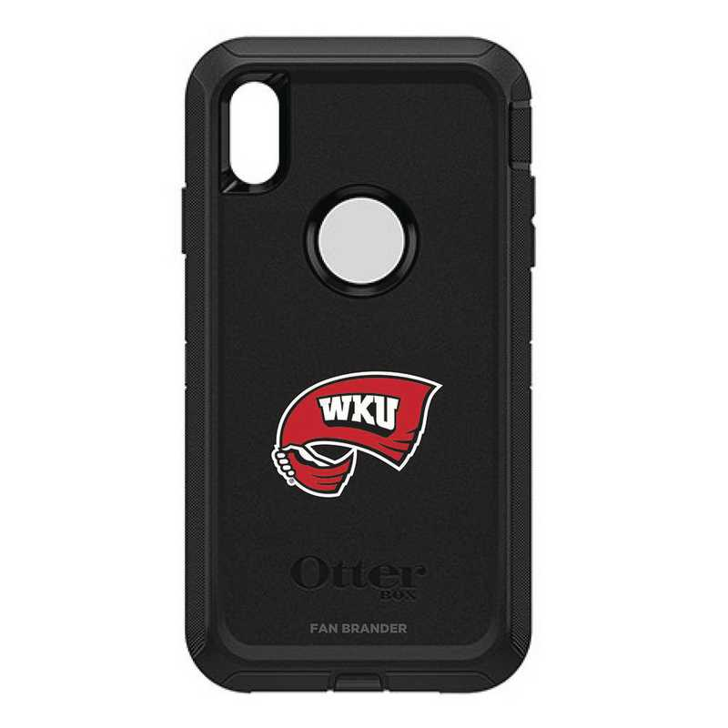 IPH-XSM-BK-DEF-WKU-D101: FB OB iPhone XS Max BLK Western Kentucky