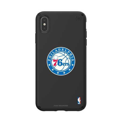 IPH-XSM-BK-PRE-76S-D101: BL Speck Presido iPhone XS Max, Philadelphia 76ers