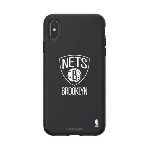 IPH-XSM-BK-PRE-BRN-D101: BL Speck Presido iPhone XS Max, Brooklyn Nets