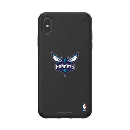 IPH-XSM-BK-PRE-CHH-D101: BL Speck Presido iPhone XS Max, Charlotte Hornets