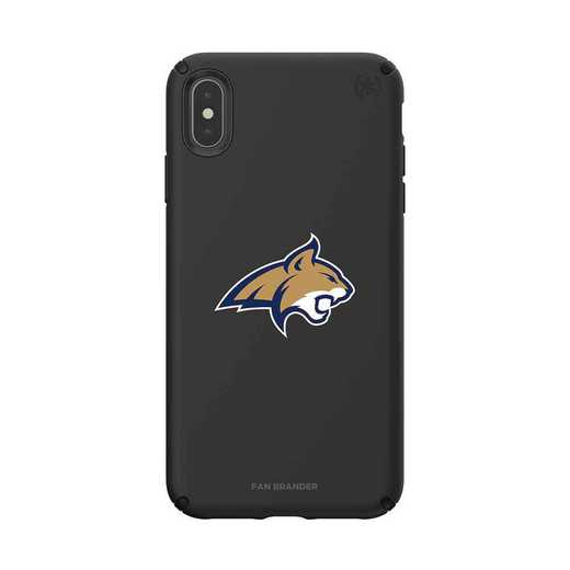 IPH-XSM-BK-PRE-MTST-D101: Montana State Bobcats Speck iPhone XS Max Presidio Pro