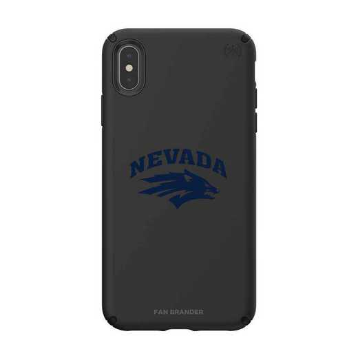 IPH-XSM-BK-PRE-UNR-D101: Nevada Wolf Pack Speck iPhone XS Max Presidio Pro