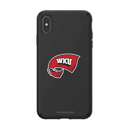 IPH-XSM-BK-PRE-WKU-D101: Western Kentucky  Speck iPhone XS Max Presidio Pro