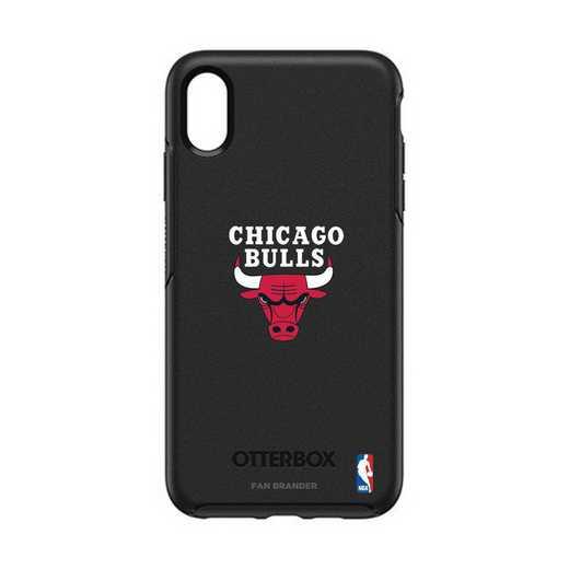 IPH-XSM-BK-SYM-CHBL-D101: BL Chicago Bulls Otterbox iPhone XS Max Symmetry