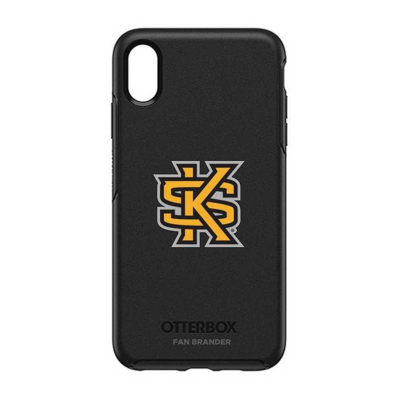 IPH-XSM-BK-SYM-KSUA-D101: FB OB iPhone XS Max BLK Kennesaw State