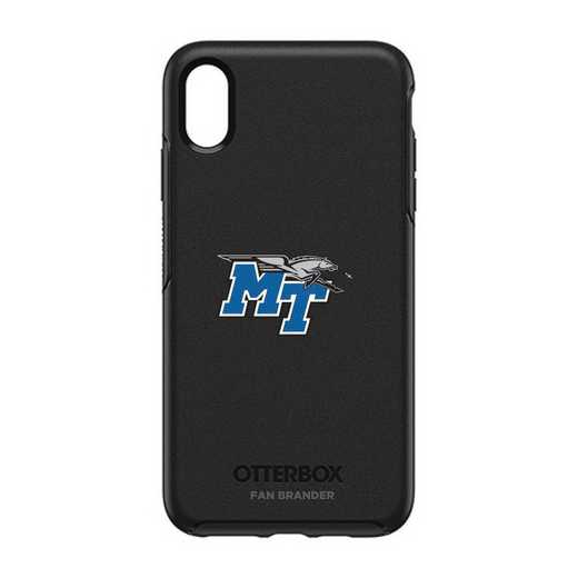 IPH-XSM-BK-SYM-MTN-D101: FB OB iPhone XS Max BLK Middle Tennessee State