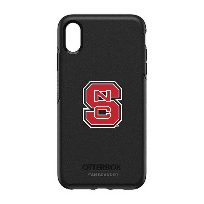 IPH-XSM-BK-SYM-NCS-D101: FB OB iPhone XS Max BLK North Carolina State