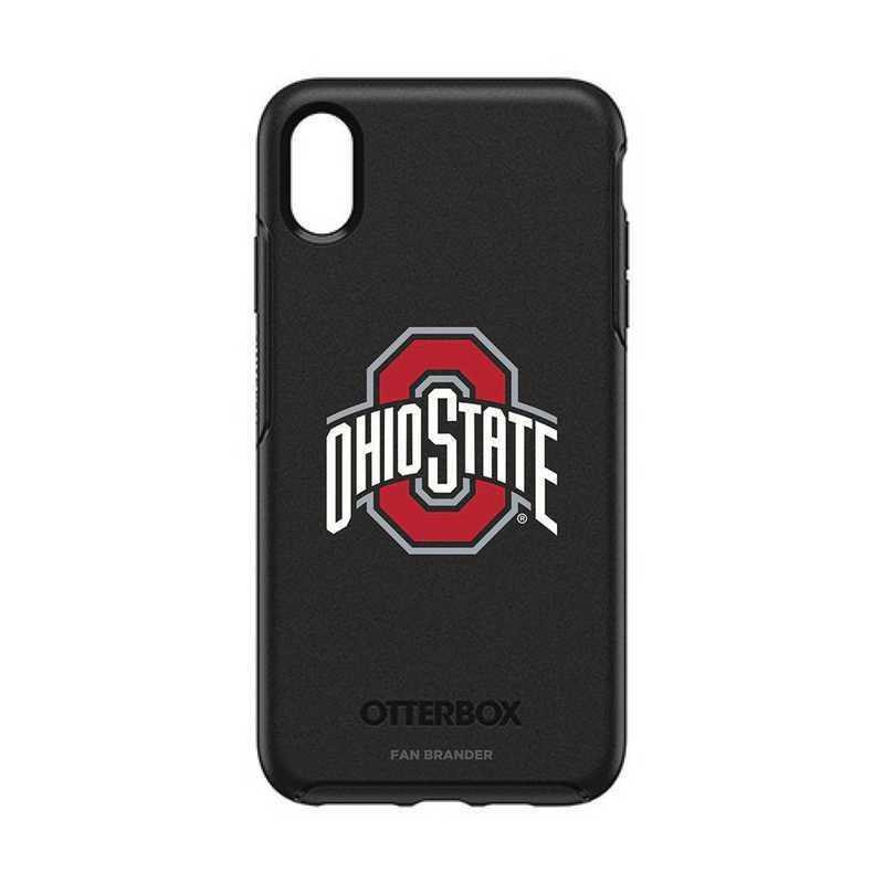 IPH-XSM-BK-SYM-OHS-D101: FB OB iPhone XS Max BLK Ohio State