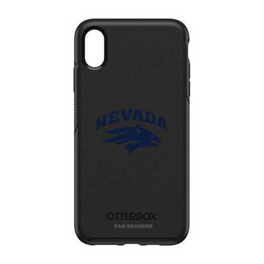 IPH-XSM-BK-SYM-UNR-D101: FB OB iPhone XS Max BLK Nevada Wolf Pack