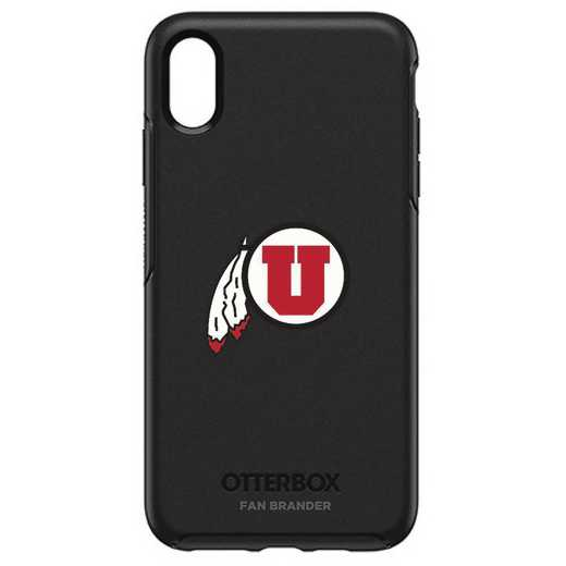 IPH-XSM-BK-SYM-UT-D101: FB OB iPhone XS Max BLK Utah