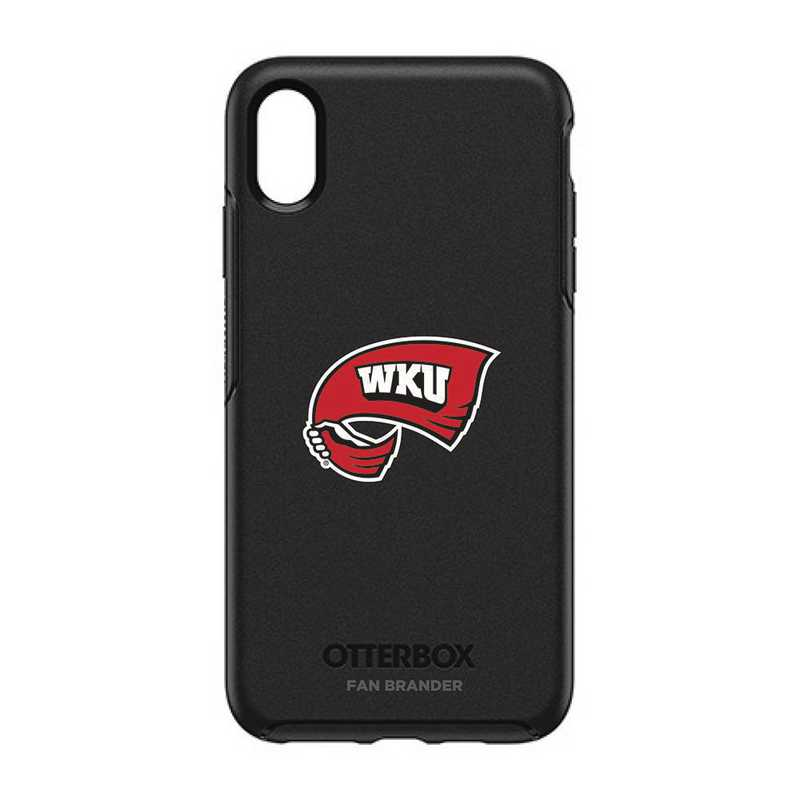 IPH-XSM-BK-SYM-WKU-D101: FB OB iPhone XS Max BLK Western Kentucky
