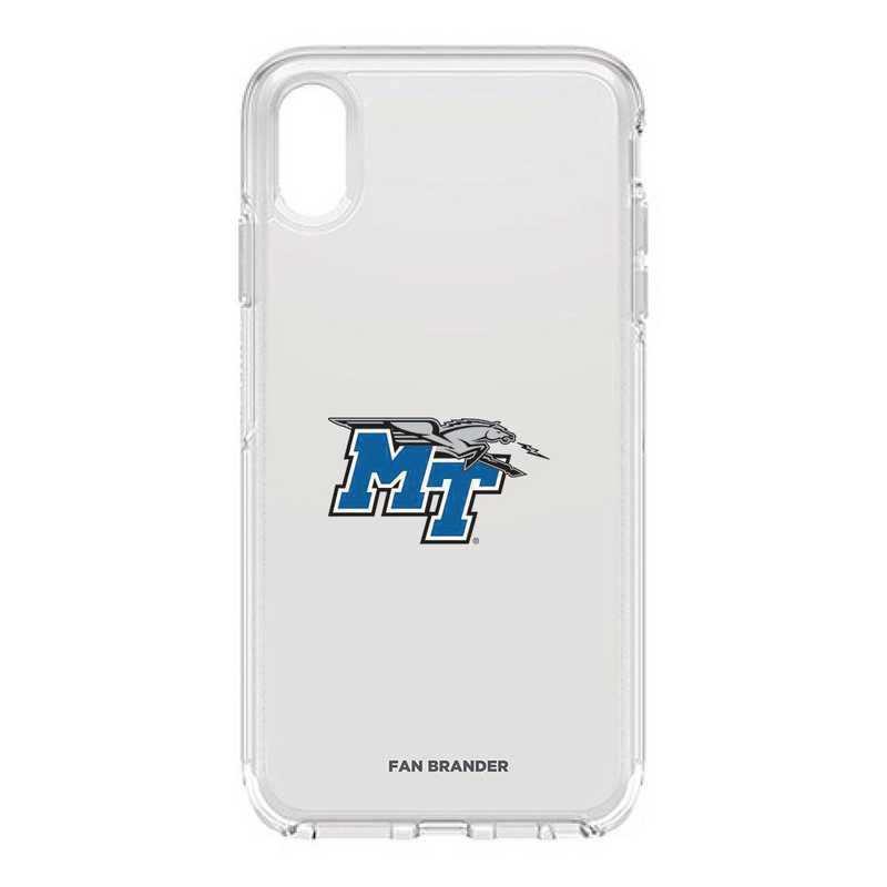 IPH-XSM-CL-SYM-MTN-D101: FB OB iPhone XS Max CLR Middle Tennessee State