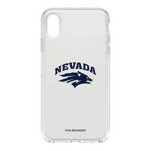 IPH-XSM-CL-SYM-UNR-D101: FB OB iPhone XS Max CLR Nevada Wolf Pack