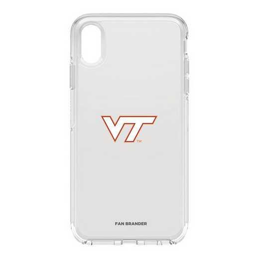 IPH-XSM-CL-SYM-VAT-D101: FB OB iPhone XS Max CLR Virginia Tech