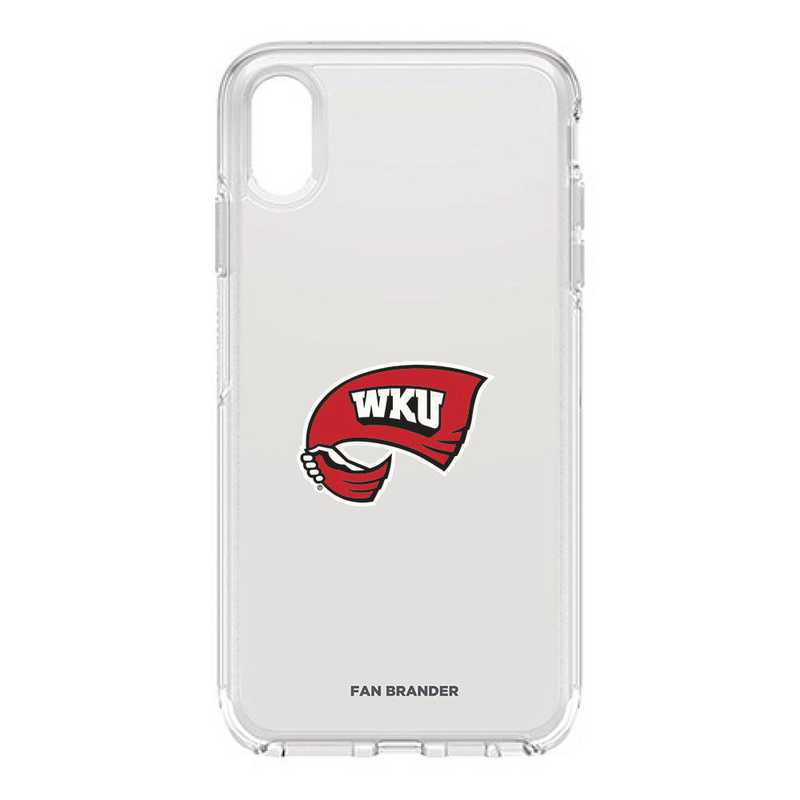 IPH-XSM-CL-SYM-WKU-D101: FB OB iPhone XS Max CLR Western Kentucky