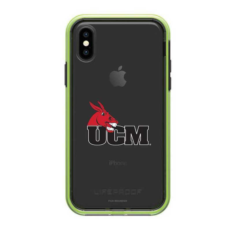 IPH-XSM-NF-SLA-CMIZ-D101: Central Missouri Mules LifeProof iPhone XS Max SLAM