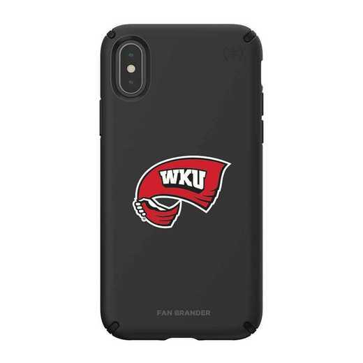 IPH-XXS-BK-PRE-WKU-D101: Western Kentucky Hilltoppers Speck iPhone XS/X Presidio Pro