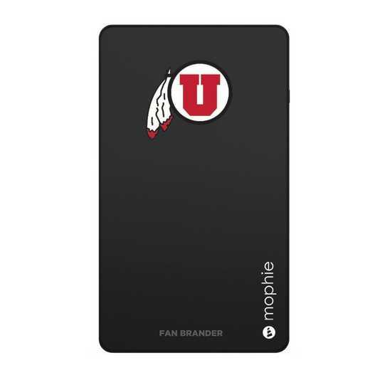 WD-UNI-BK-CFM-UT-D101: FB Utah Utes mophie USB powerstation Mini