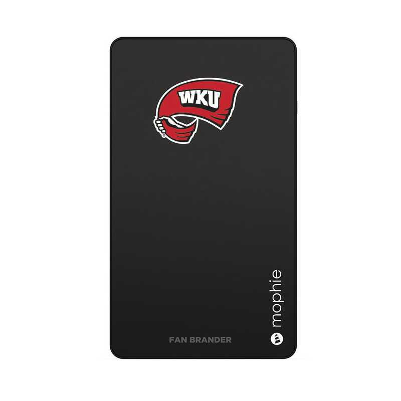 WD-UNI-BK-CFM-WKU-D101: FB Western Kentucky Hilltoppers mophie USB powerstation Mini