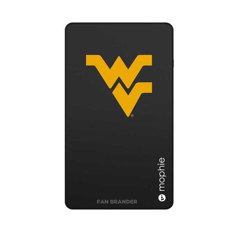 WD-UNI-BK-CFM-WV-D101: FB West Virginia Mountaineers mophie USB powerstation Mini